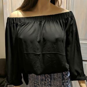 Express off shoulder black blouse medium